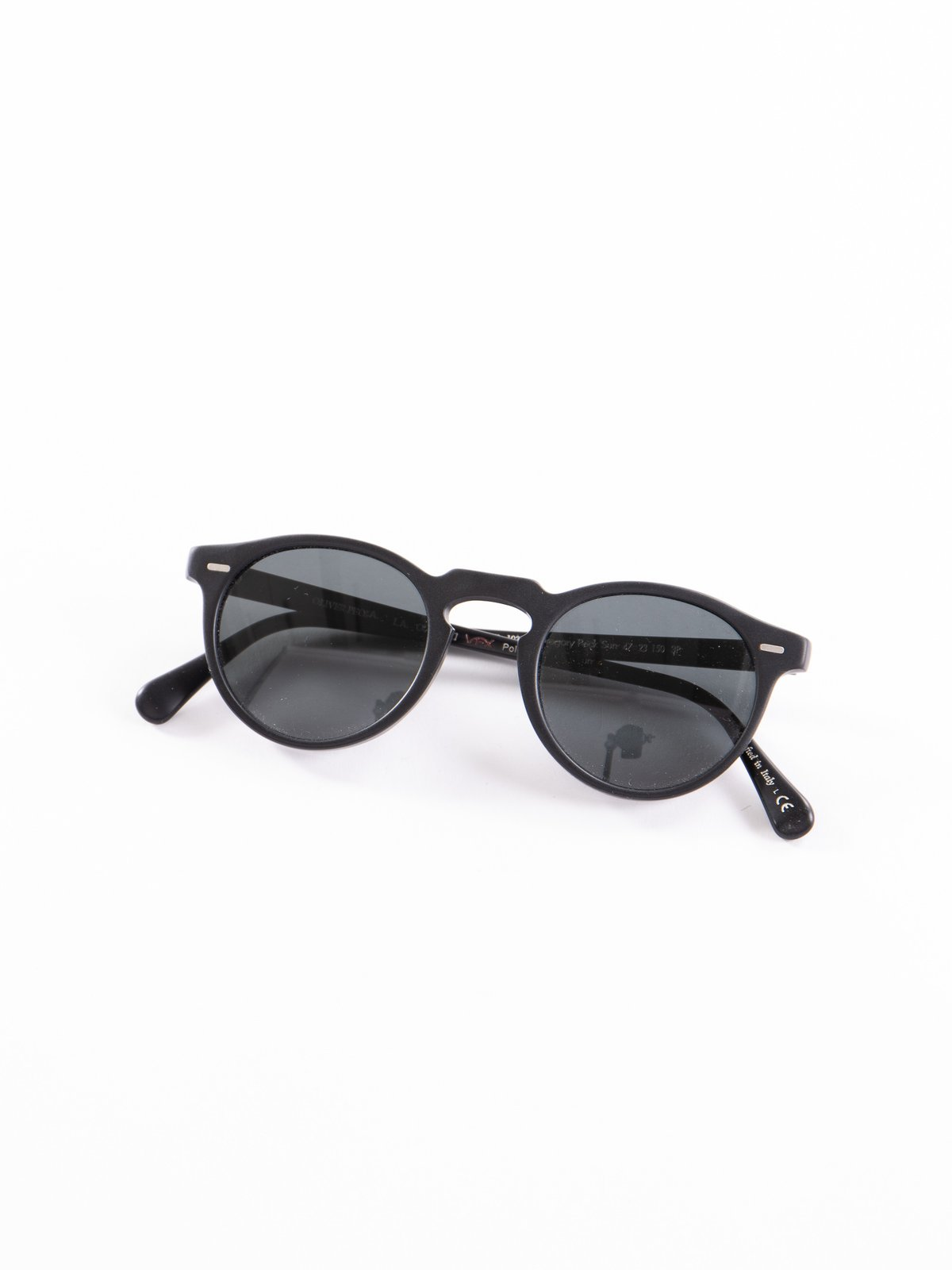 Semi–Matte Black/Dark Grey Polar Gregory Peck Sunglasses - Image 1