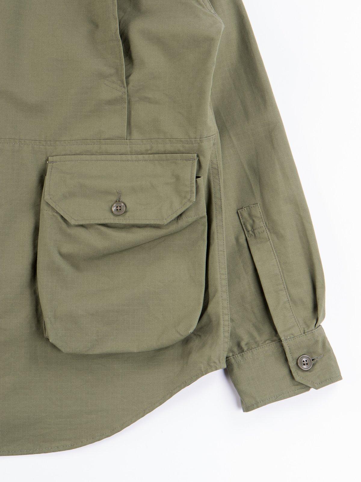 Olive Cotton Ripstop Explorer Shirt Jacket - Image 8