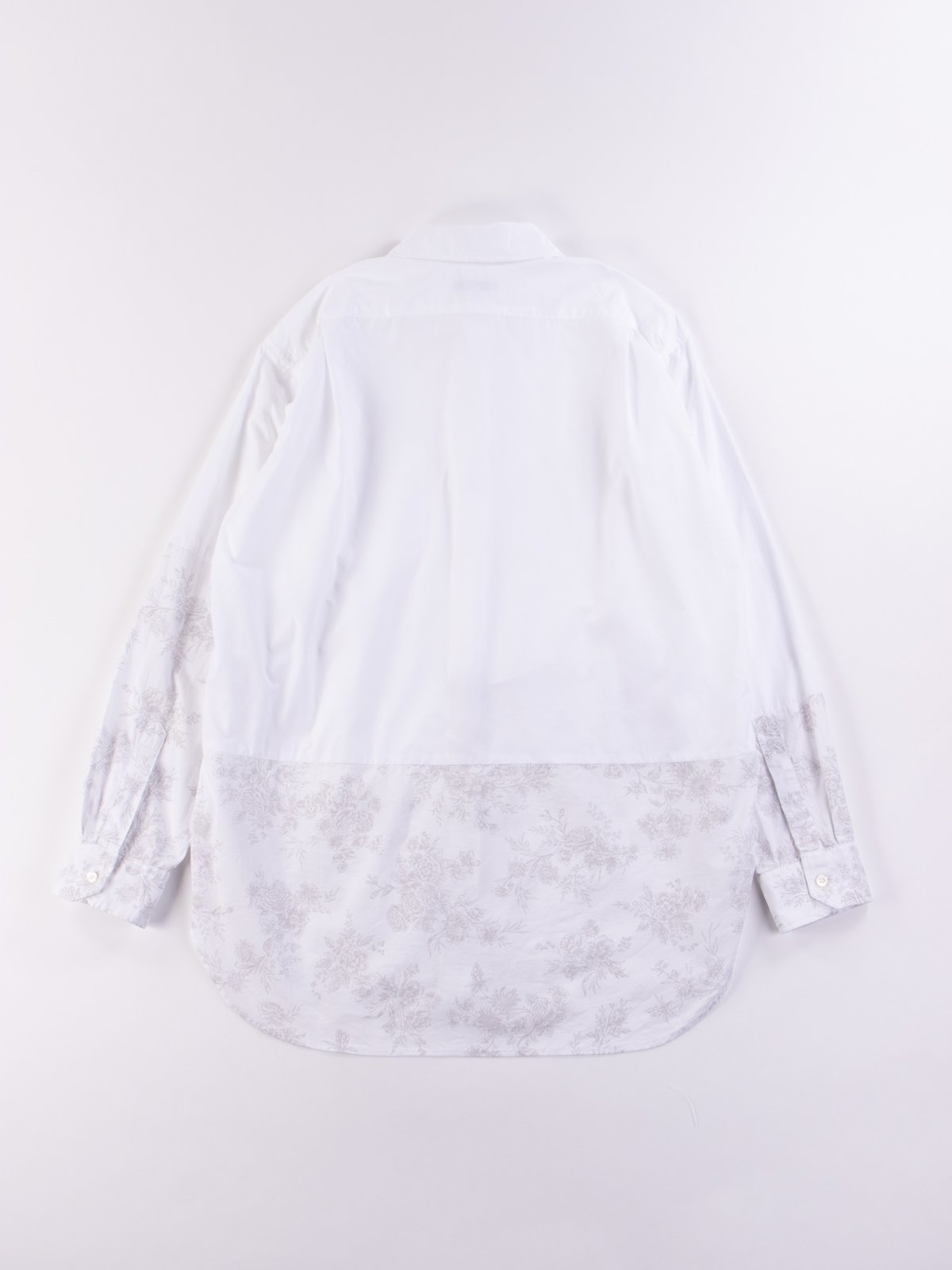 White 100's 2Ply Broadcloth Spread Collar Shirt SS20 - Image 5