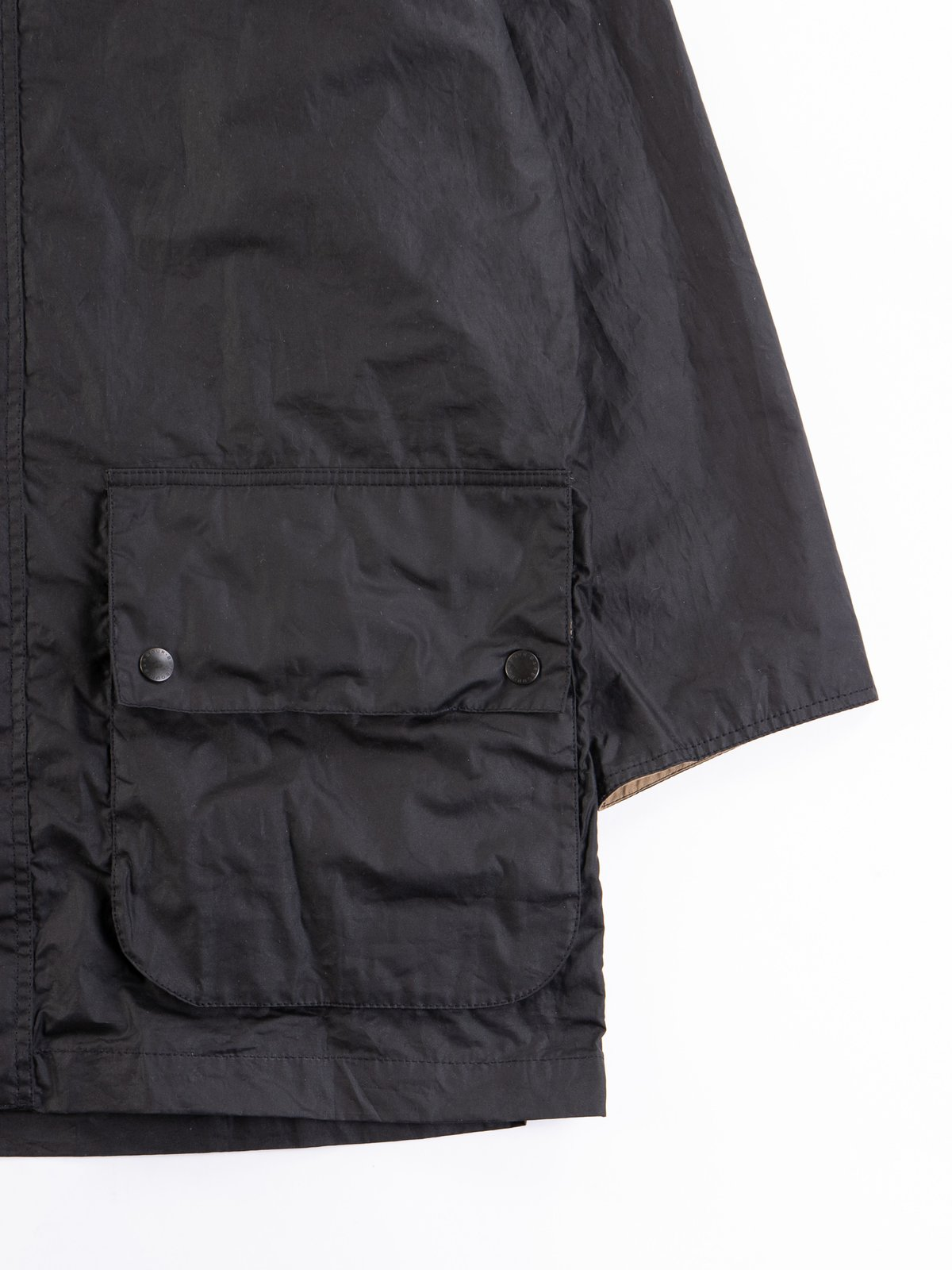 Black Hiking Waxed Cotton Jacket - Image 4