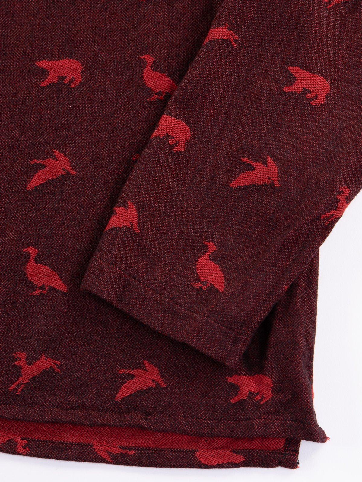 Black/Red Game Animal Jacquard MED Shirt - Image 4