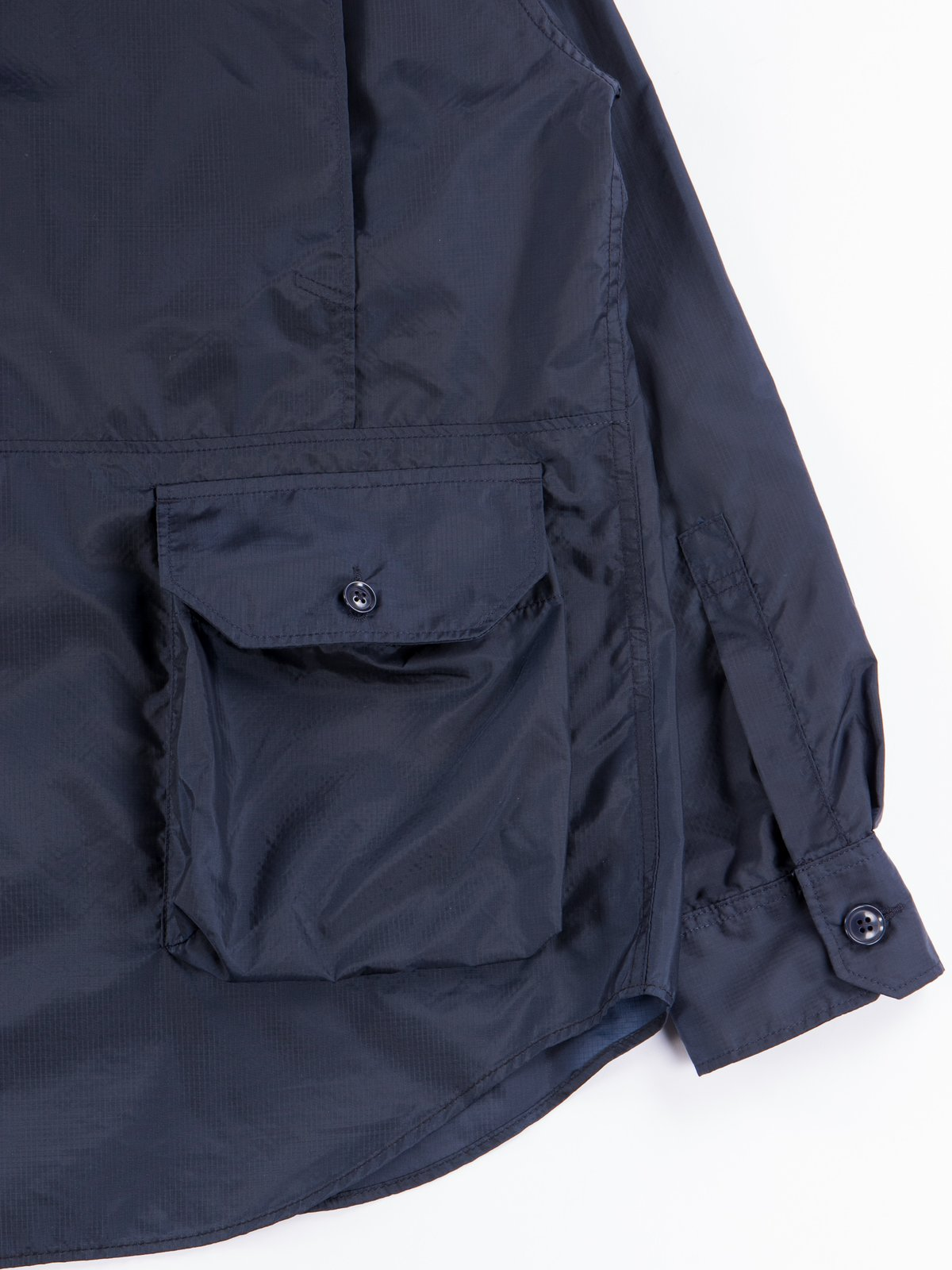 Navy Nylon Micro Ripstop Explorer Shirt Jacket  - Image 8