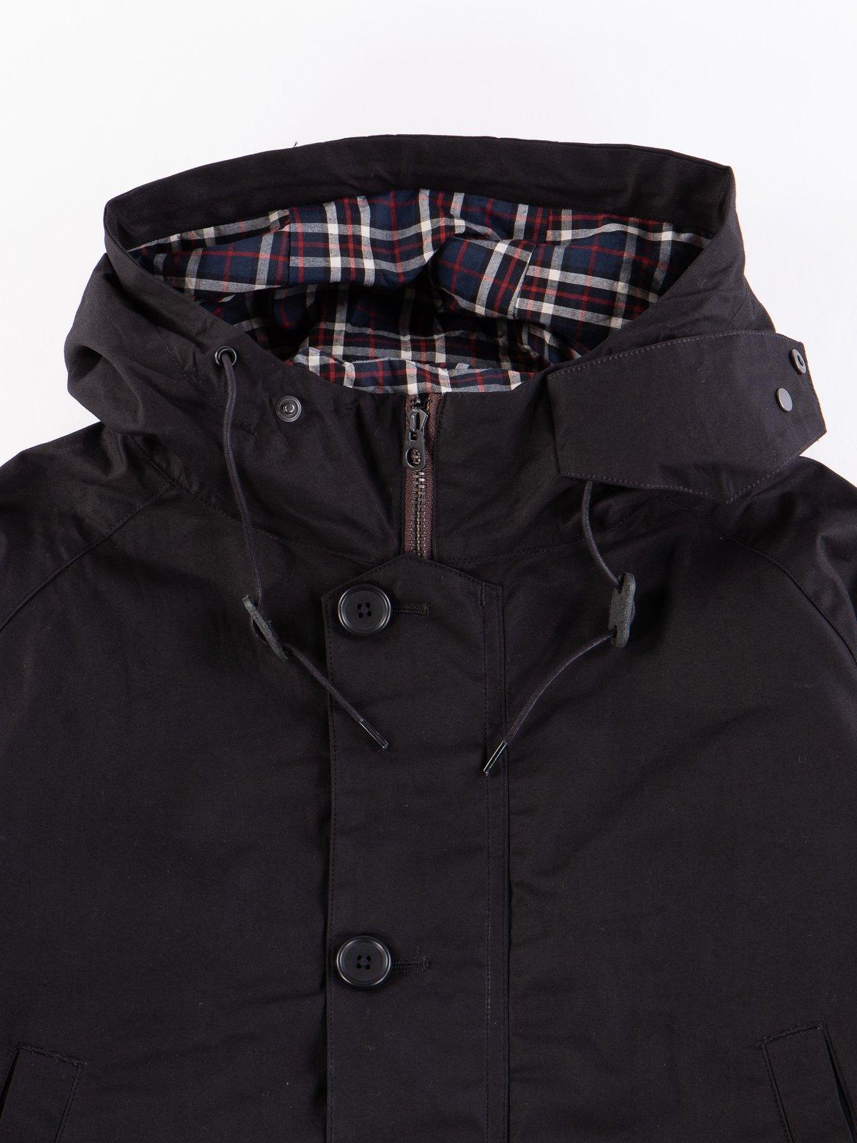 Black British Field Hooded Jacket - Image 2