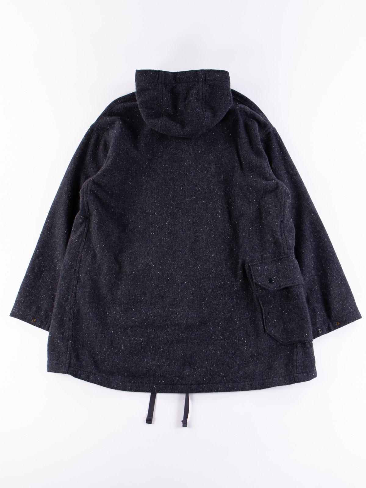 Navy Herringbone Donegal Wool Tweed Madison Parka - Image 12