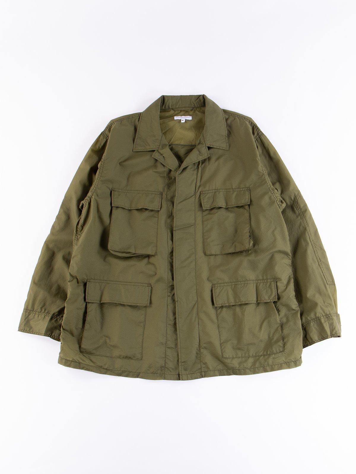 Olive Nylon Micro Ripstop BDU Jacket - Image 1