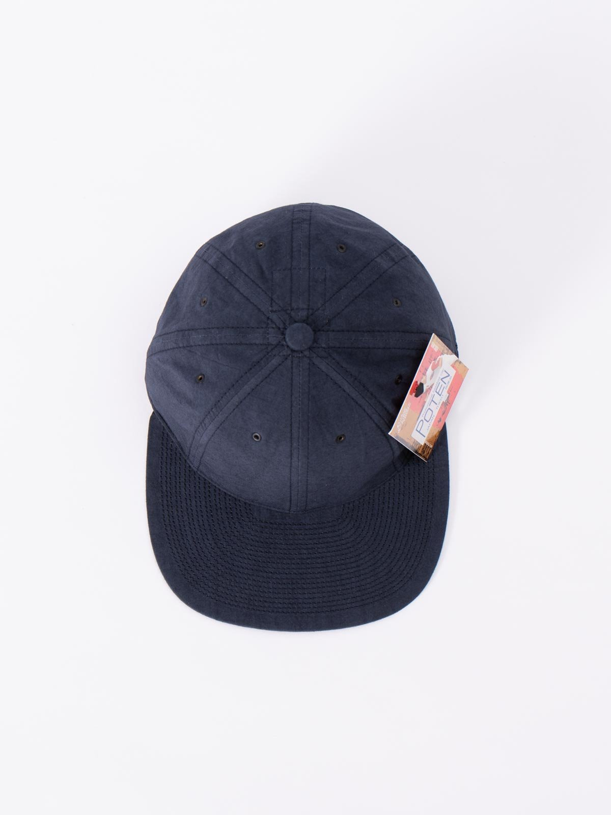 NAVY SPECIAL DYED COTTON / LINEN CAP - Image 3