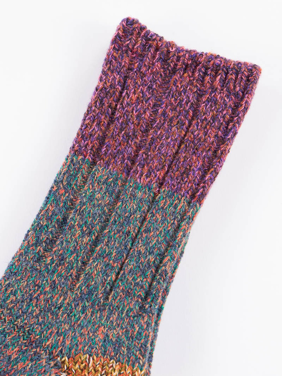Purple Van Gogh Wool Socks - Image 2