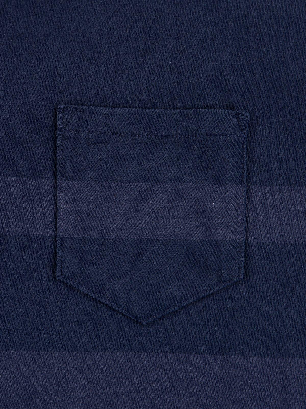 Navy Stripe Cote D'Ivoire Cotton T–Shirt - Image 3