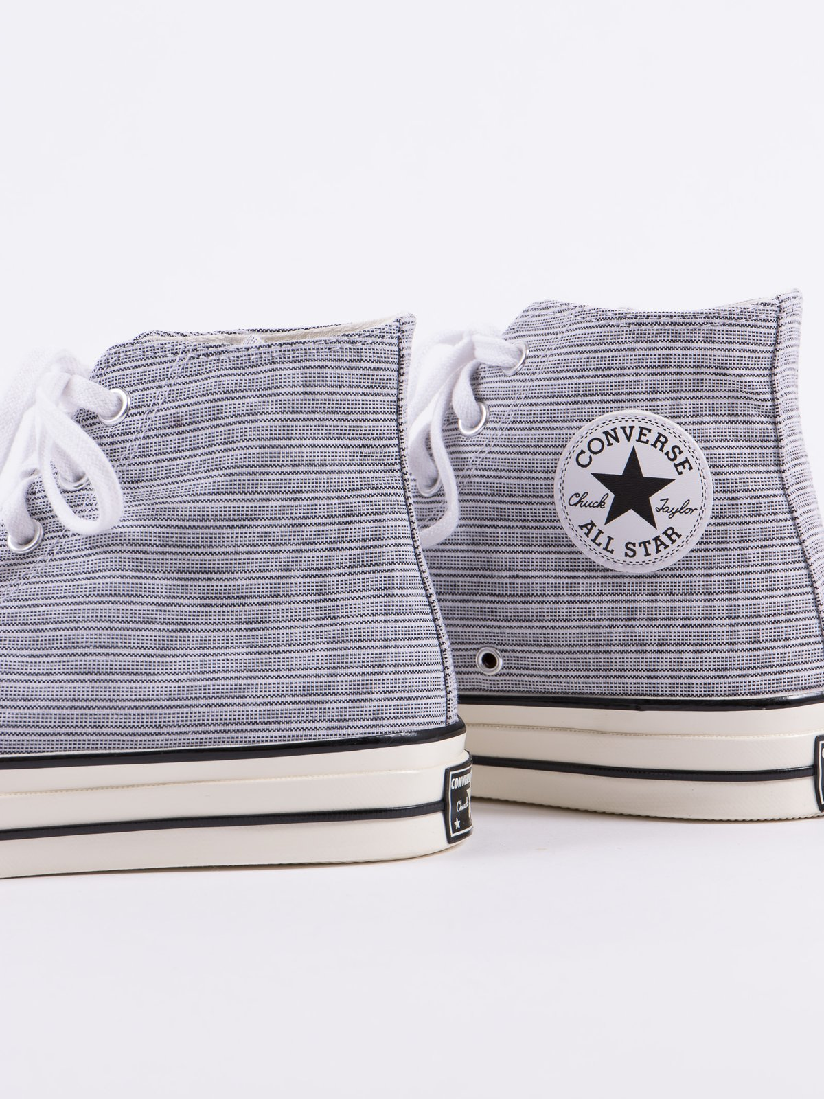 White/Black Poplin Shirt Chuck Taylor All Star 70s Hi - Image 3