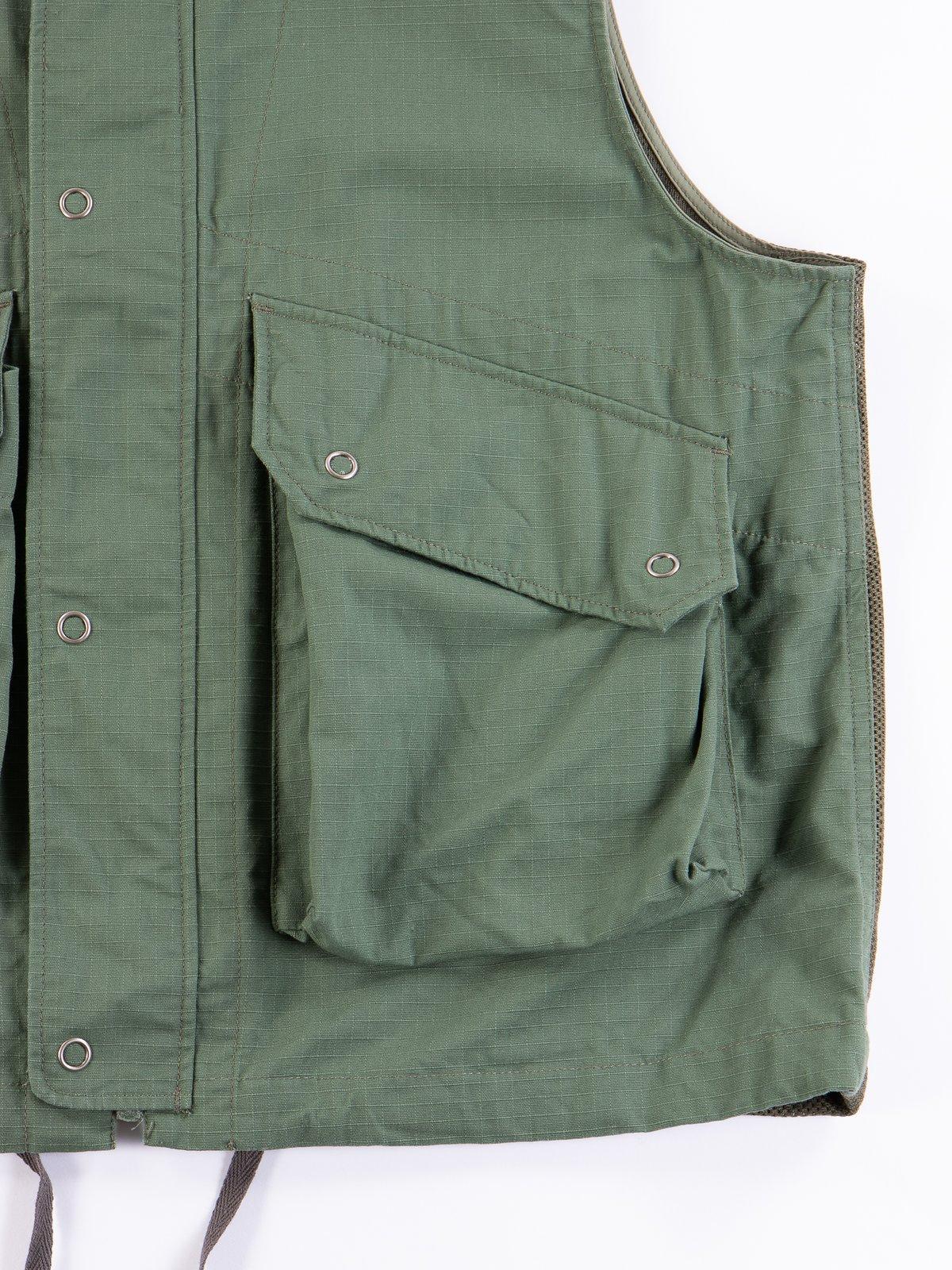 Olive Cotton Ripstop Field Vest - Image 4