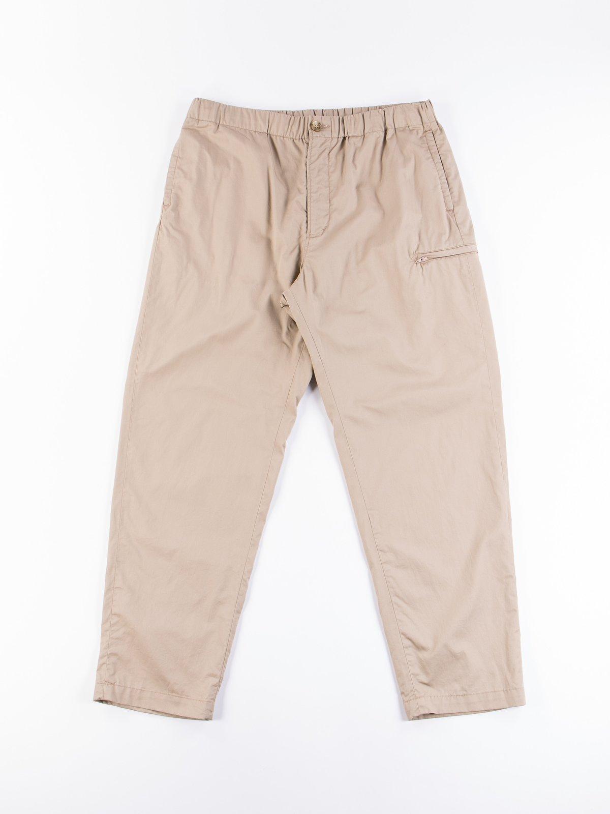 Khaki Highcount Twill Drawstring Pant - Image 1