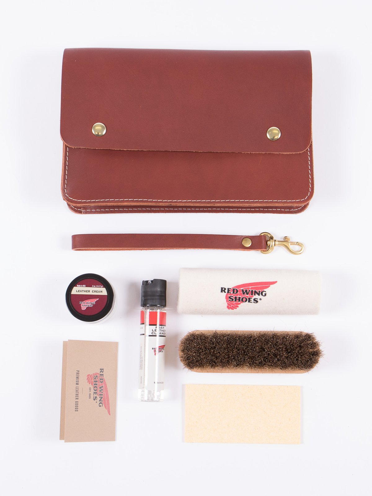 Leather Travel Care Kit - Image 4
