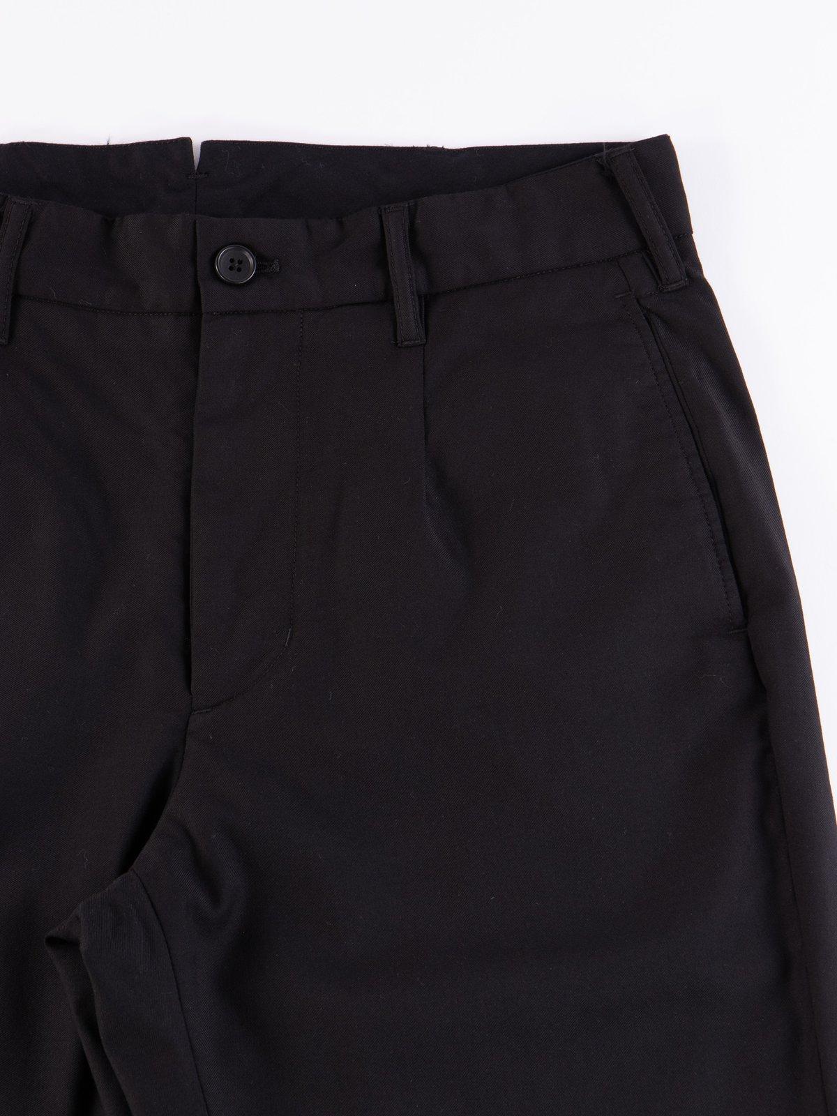 Black Worsted Wool Gabardine Andover Pant - Image 3