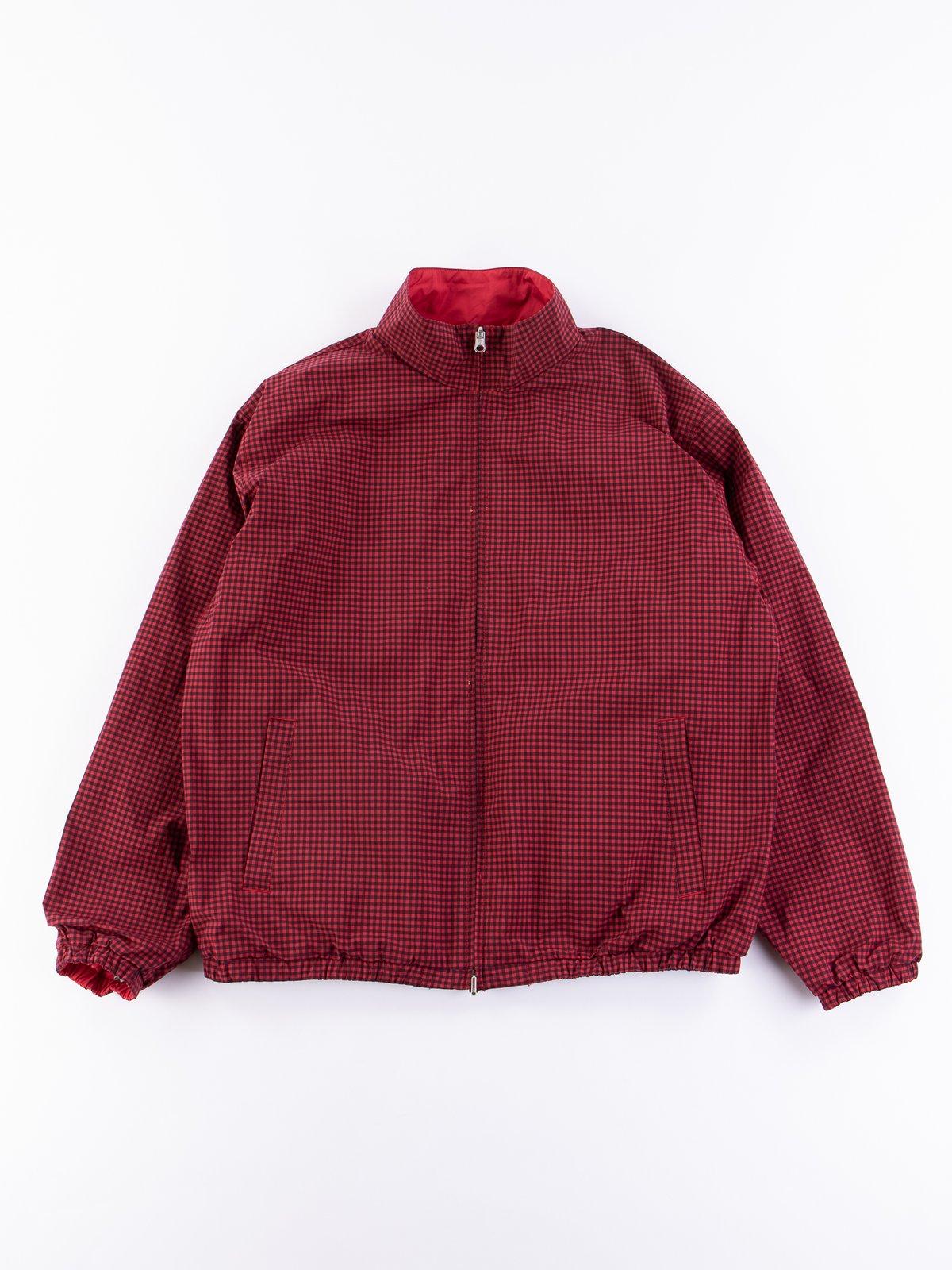 Red Gingham Reversible Jacket - Image 1