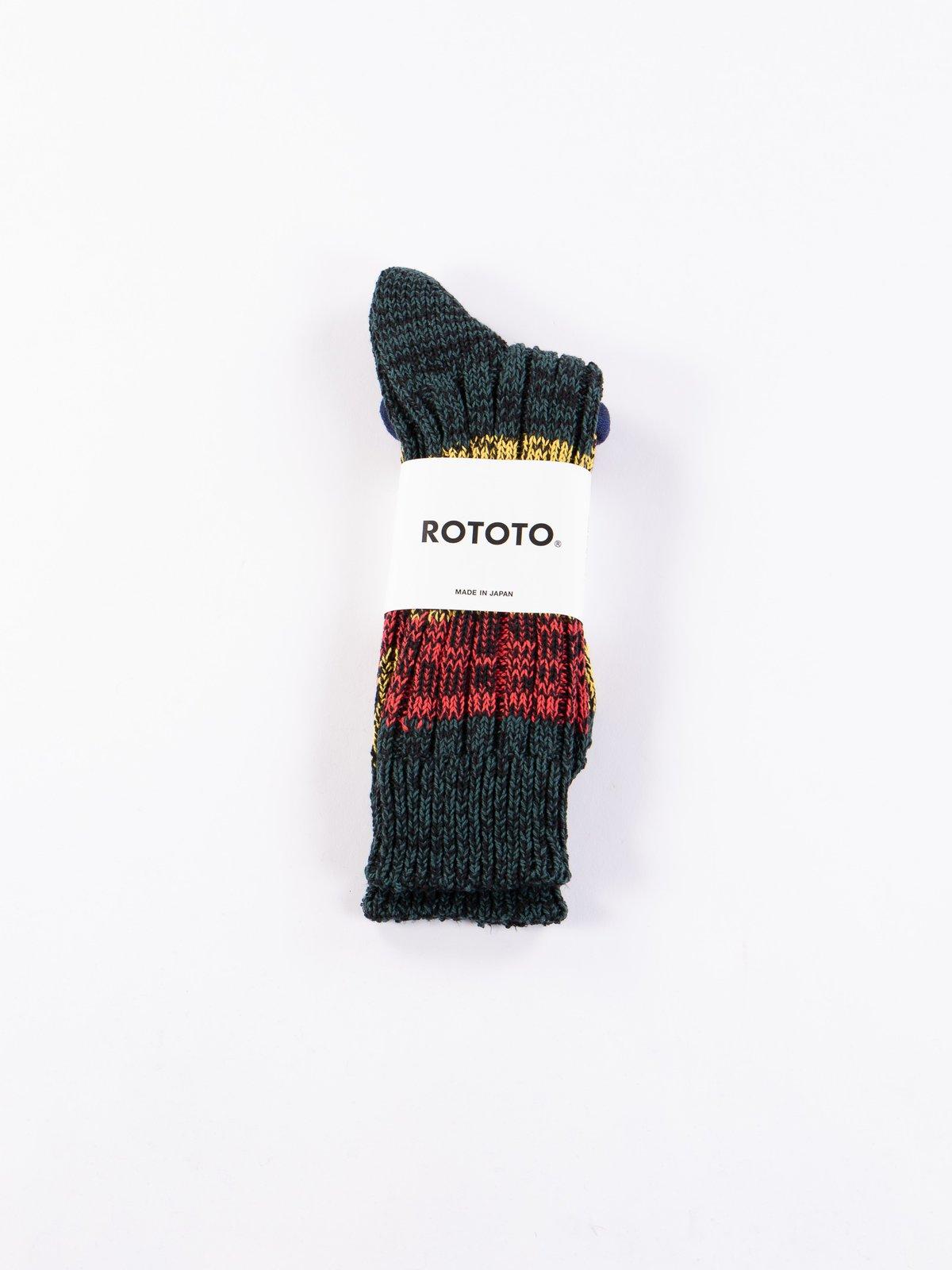 Green/Red/Yellow Mixture Crew Socks - Image 2