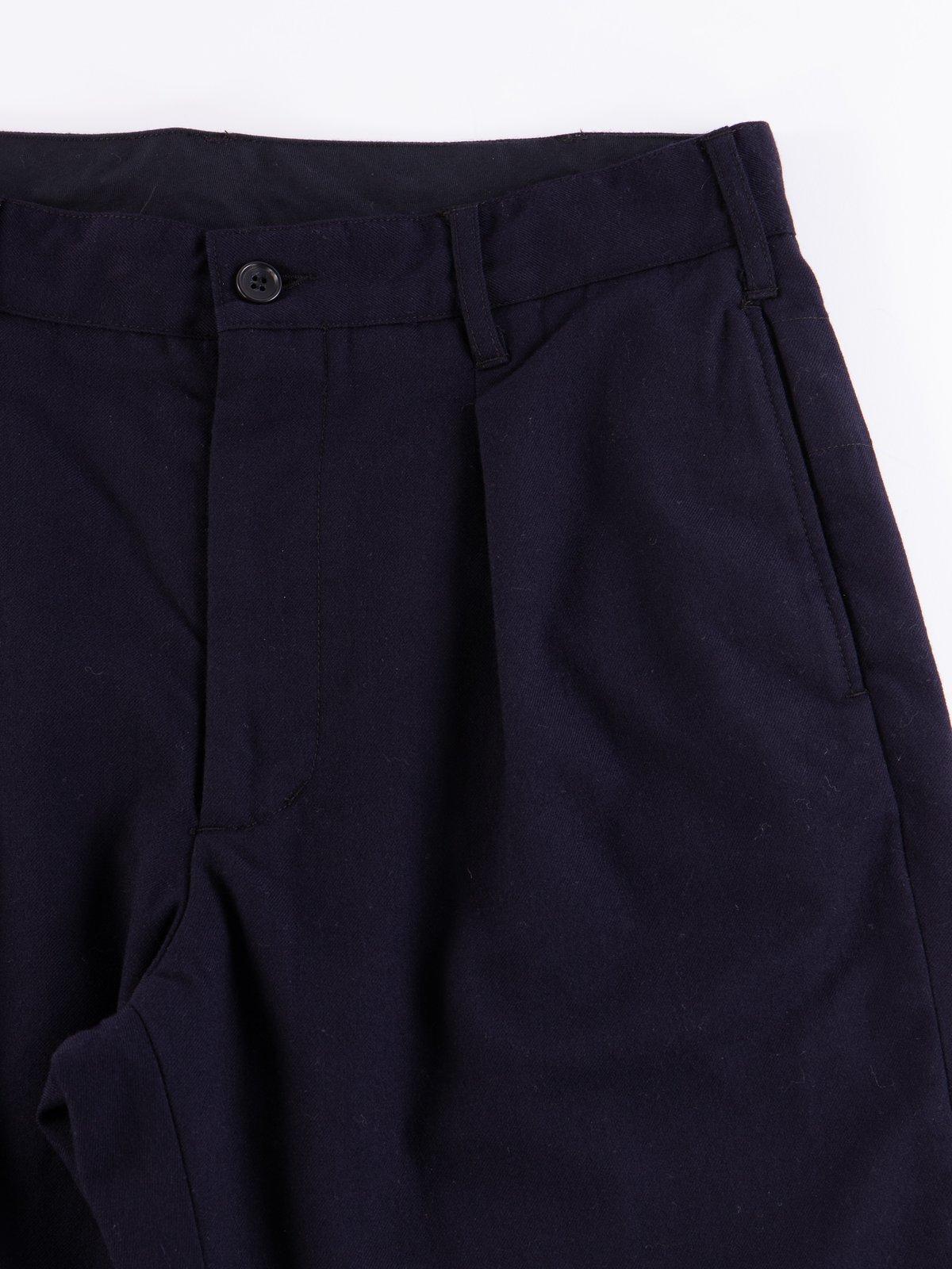 Dark Navy Wool Uniform Serge Carlyle Pant - Image 3