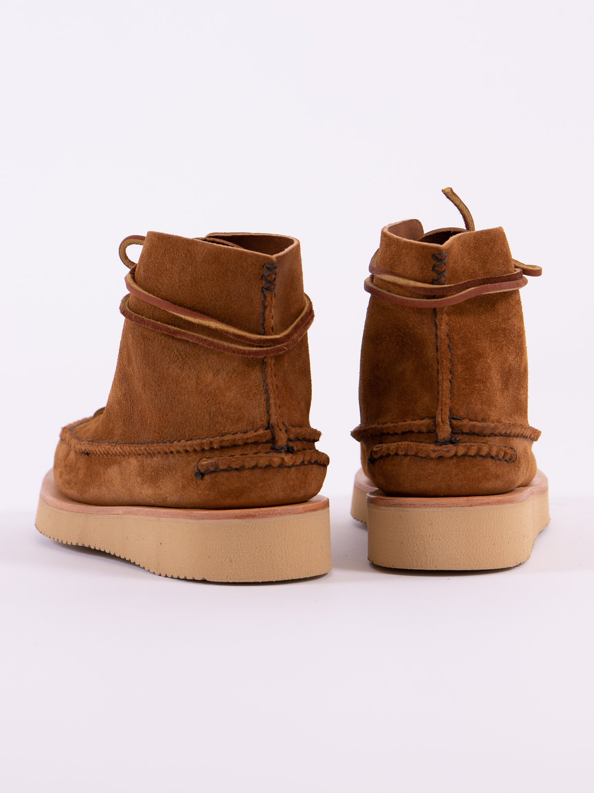 Golden Brown All Handsewn Sneaker Moc High Boot - Image 7