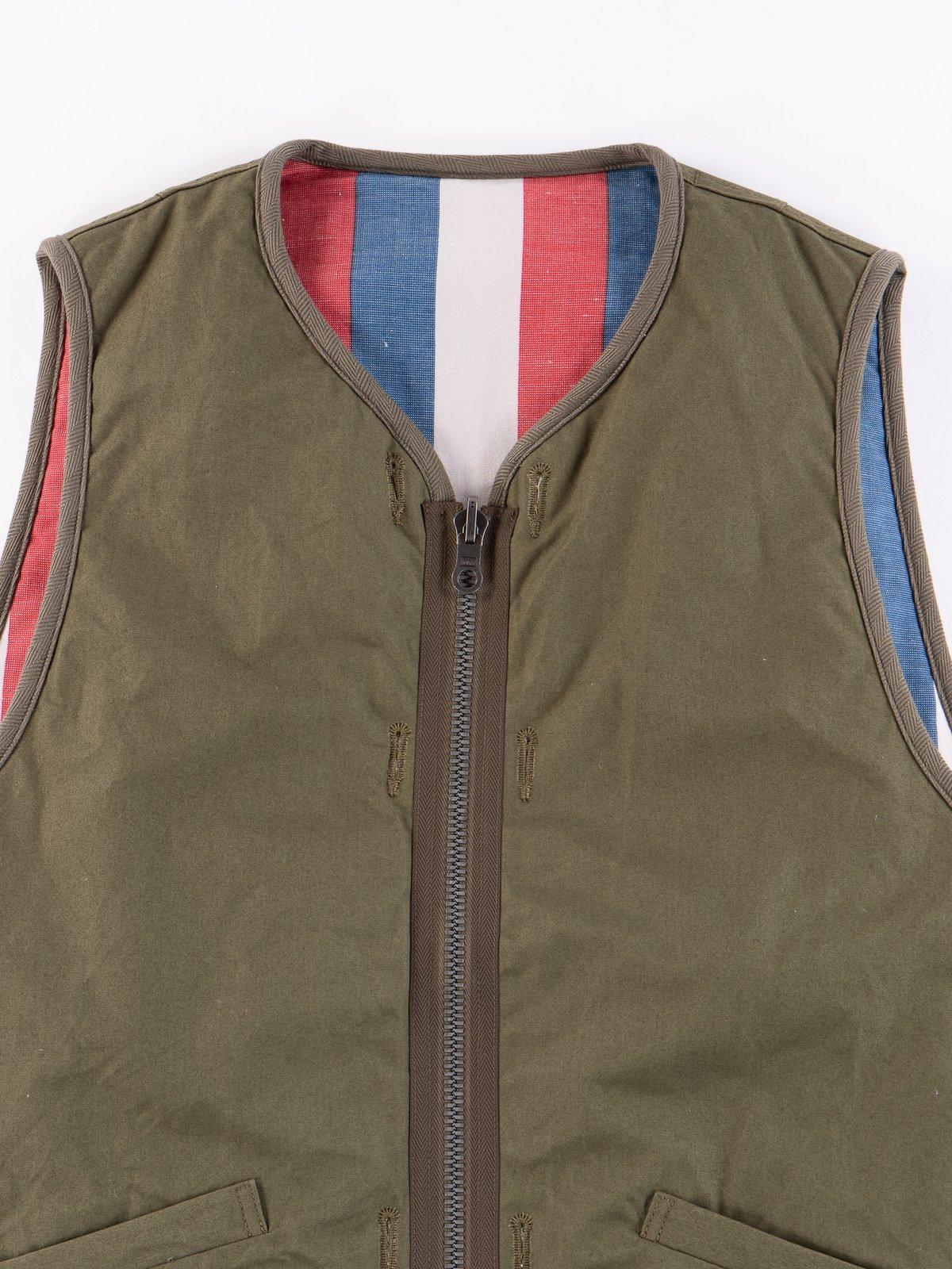 Olive Iris Cotton Liner Vest - Image 3
