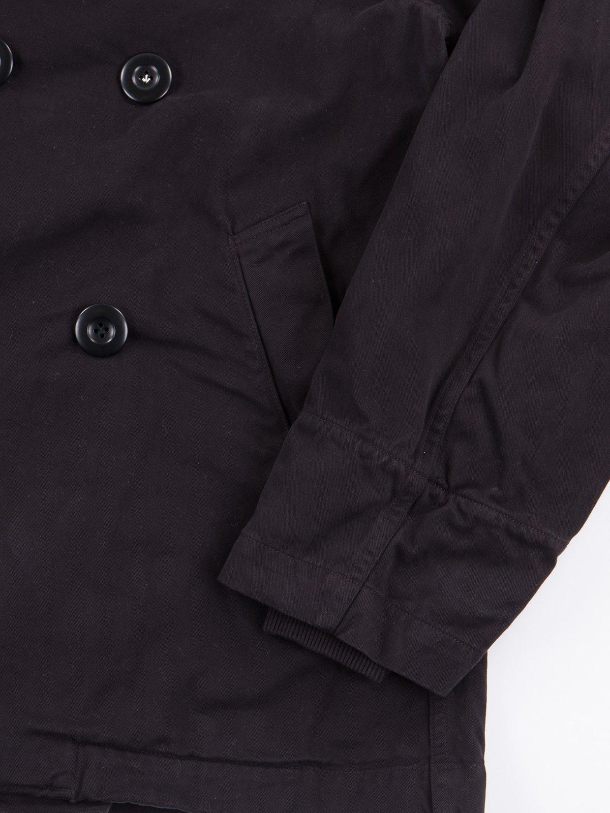 Black Brushed Twill Tri–P Ring Coat - Image 3