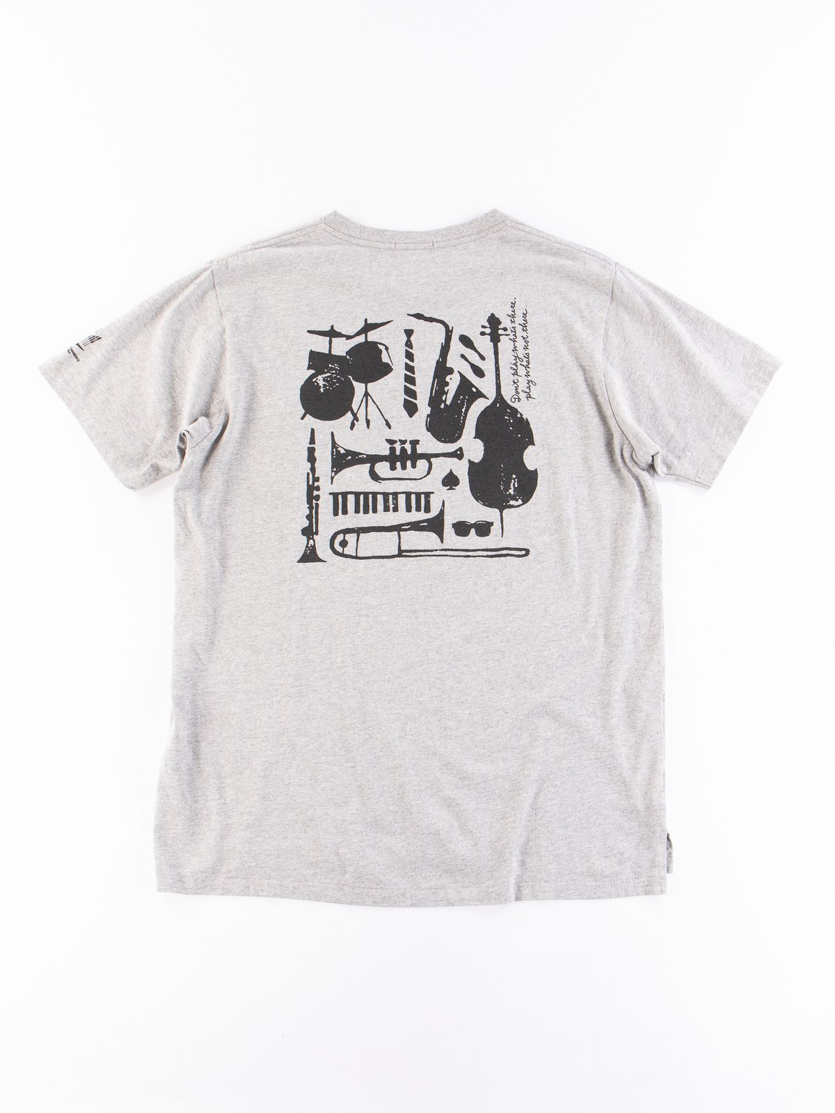 Grey A Day Printed Cross Crew Neck T–Shirt - Image 5