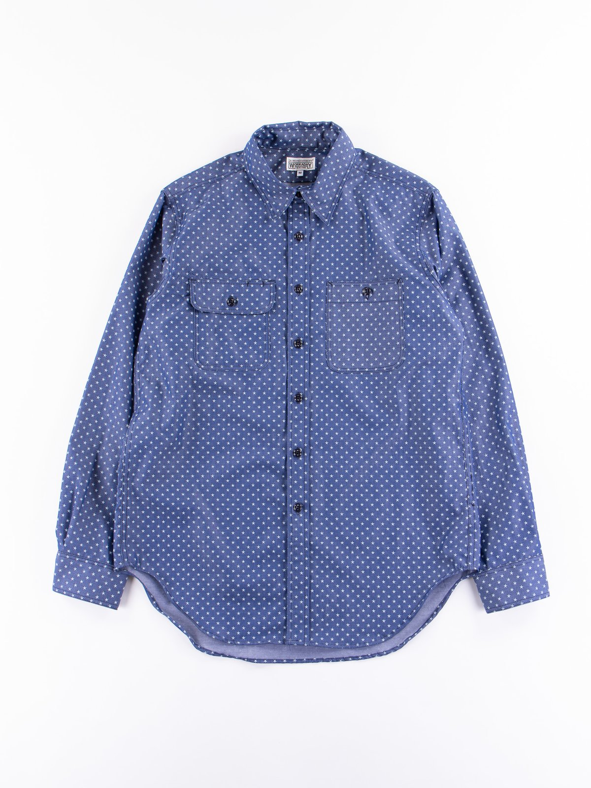 Navy Star Chambray Utility Shirt - Image 1