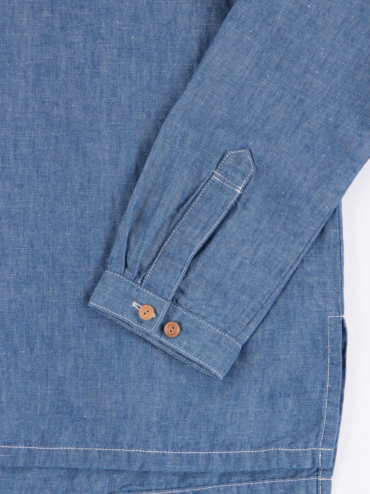 Blue Chambray Kerchief Tunic Shirt - Image 3