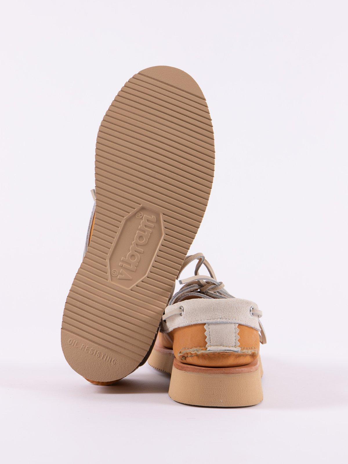 BB Tan/FO White Boat Shoe Exclusive - Image 5