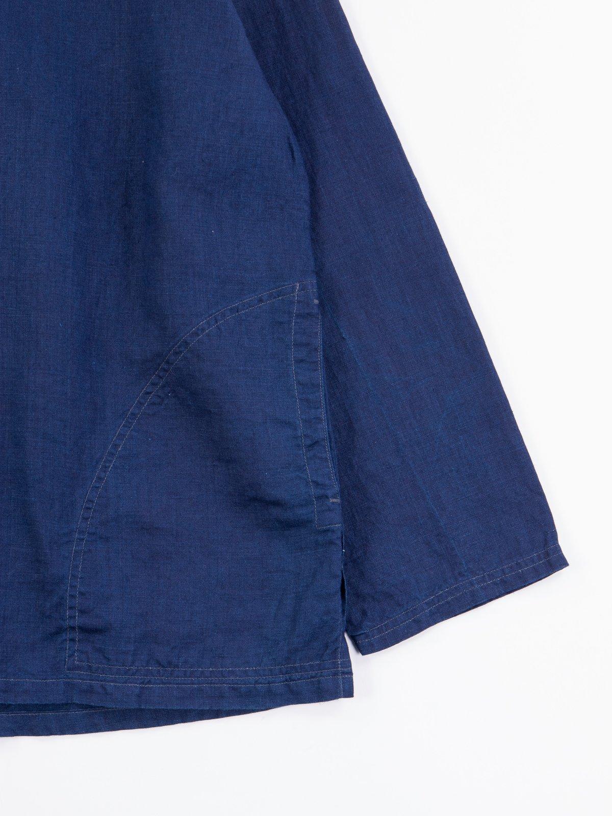 Indigo Linen Pullover Shirt - Image 4