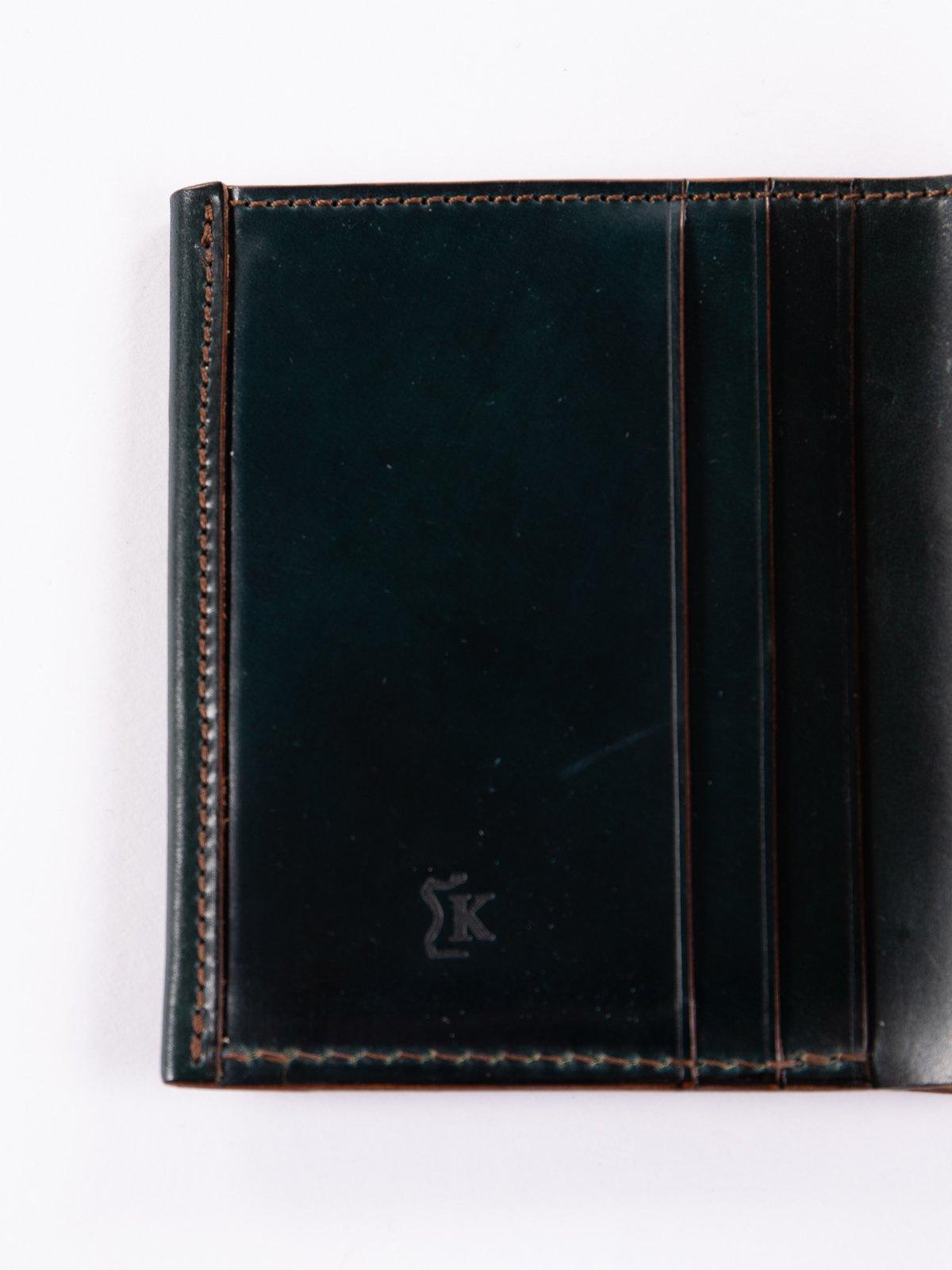 Green Horween Cordovan 3–3 Wallet - Image 3