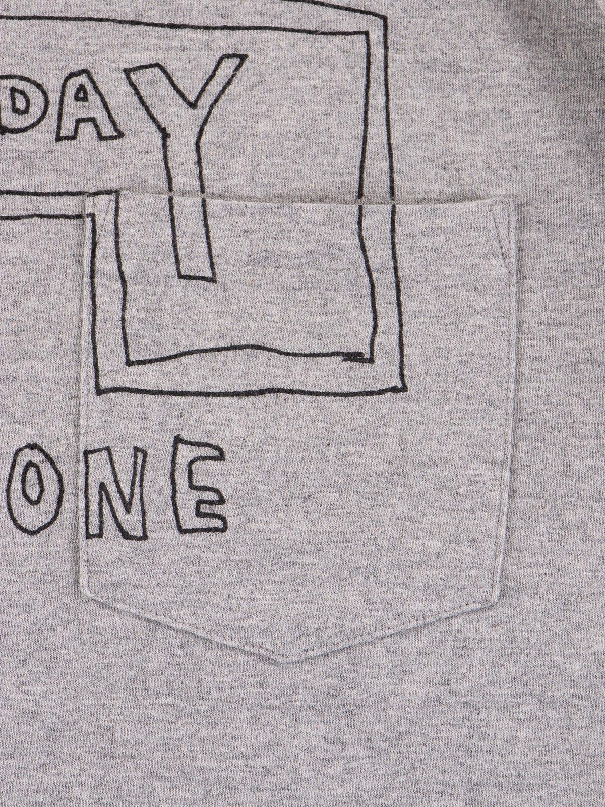 Grey Everyone Crossover Crew Pocket Tee - Image 4