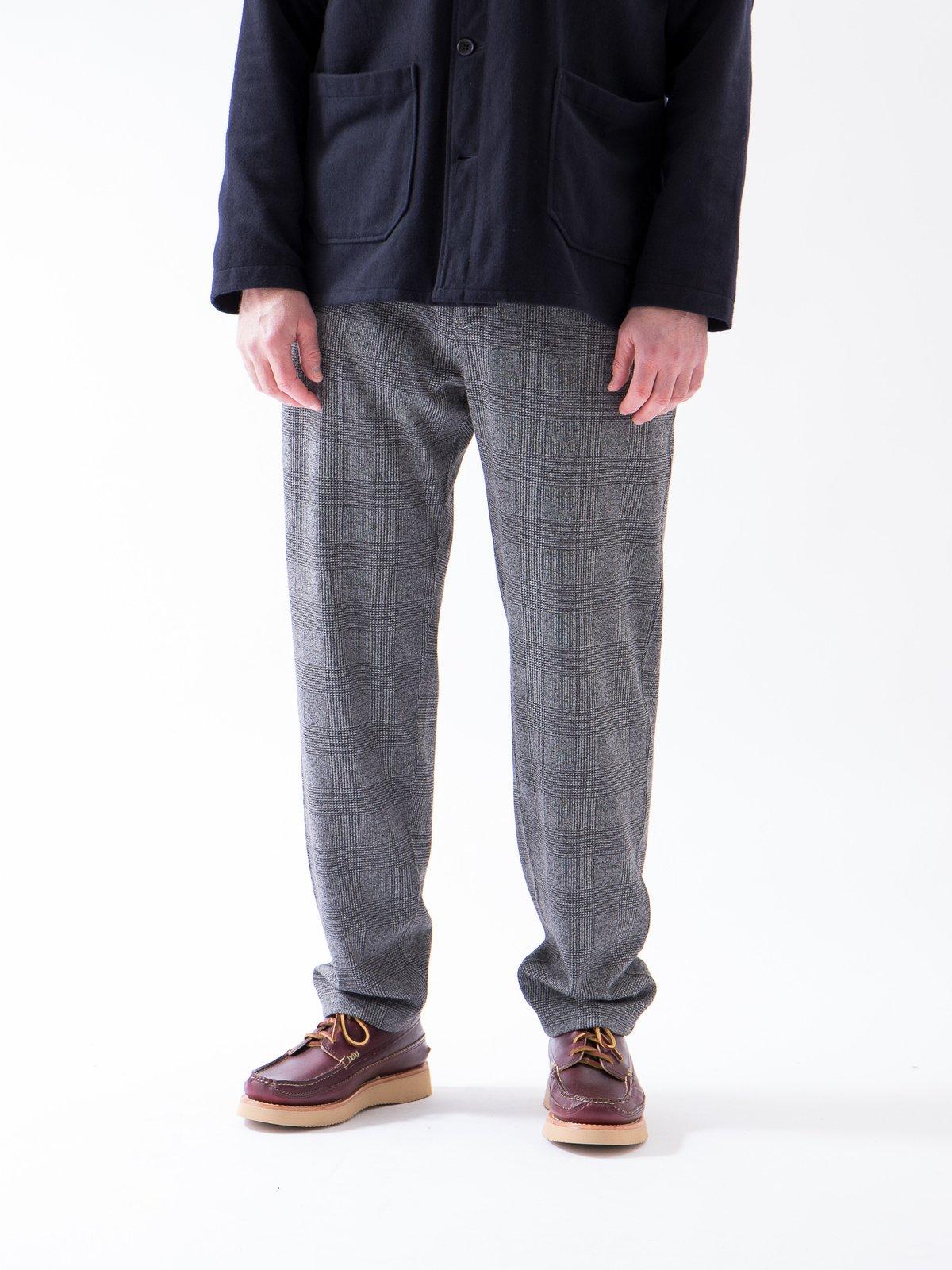 Grey PC Knit Glen Plaid Jog Pant - Image 3
