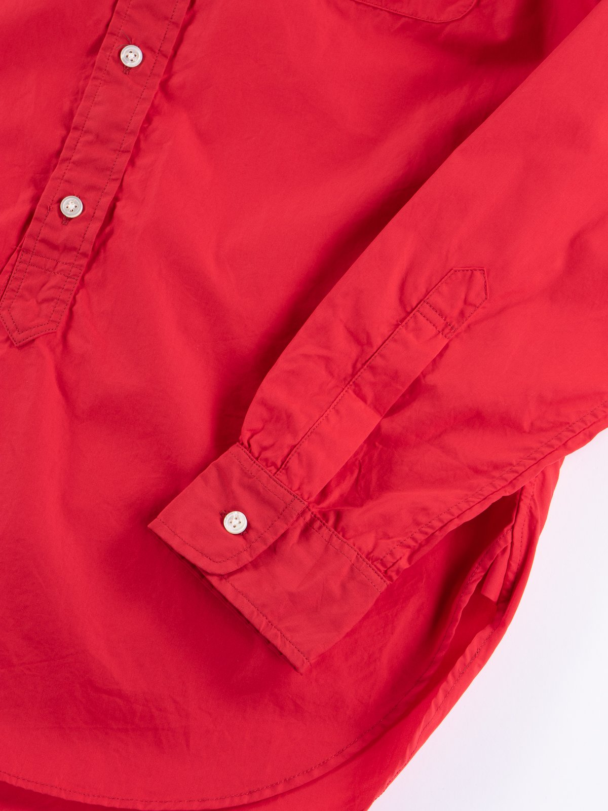 Red 100's 2ply Broadcloth 19th Century BD Shirt - Image 4