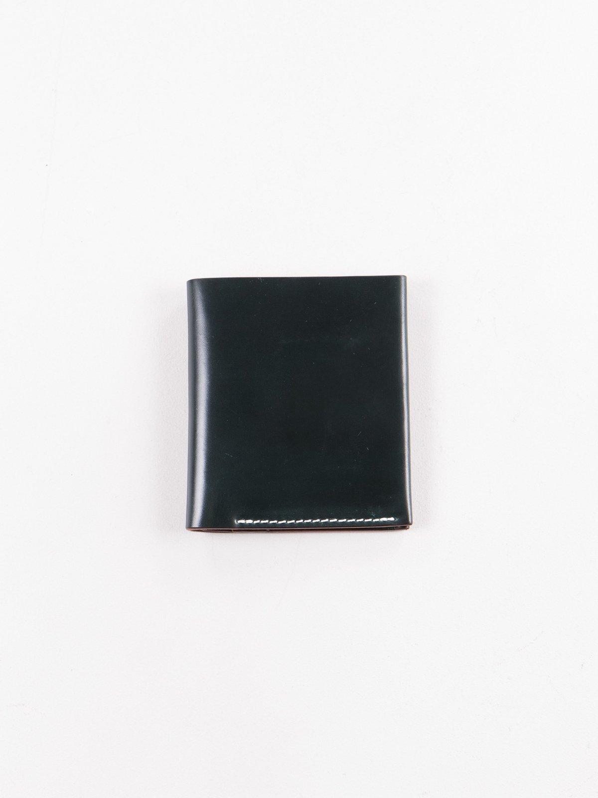 Green Horween Cordovan 2–2 Wallet - Image 1