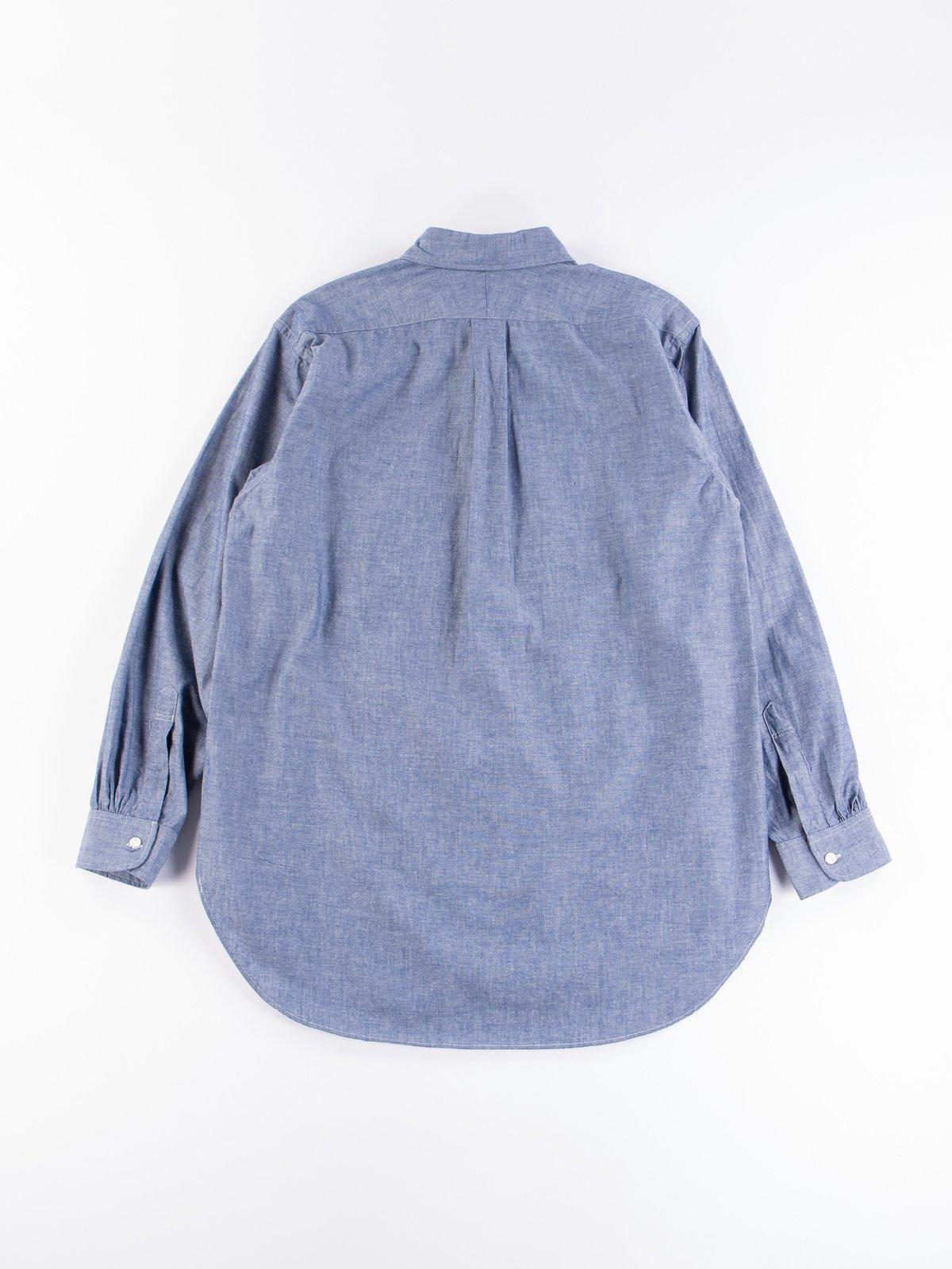 Blue Cotton Chambray 19th Century BD Shirt - Image 6