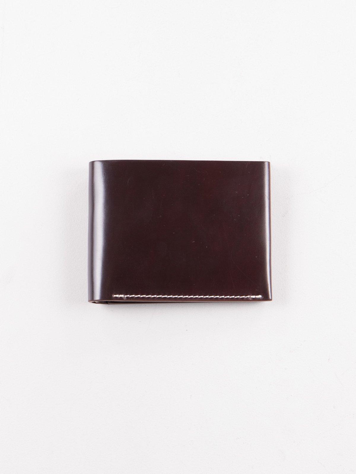 Color 8 Horween Cordovan 4–4 Wallet - Image 1