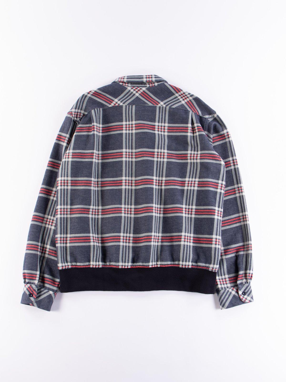 Navy/Teal/Red Big Plaid Classic Shirt - Image 7