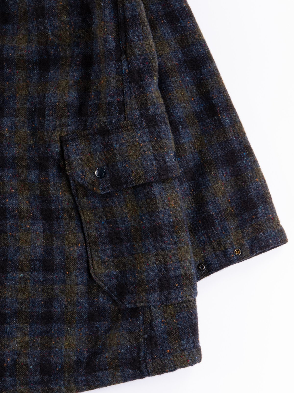 Navy Check Donegal Wool Tweed Madison Parka - Image 13