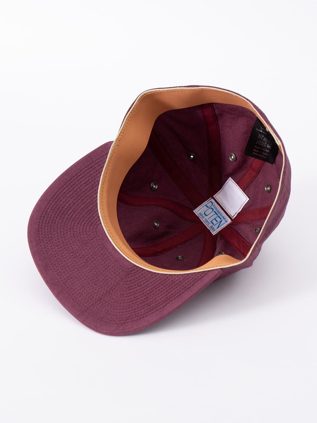WINE SPECIAL DYED COTTON / LINEN CAP - Image 4