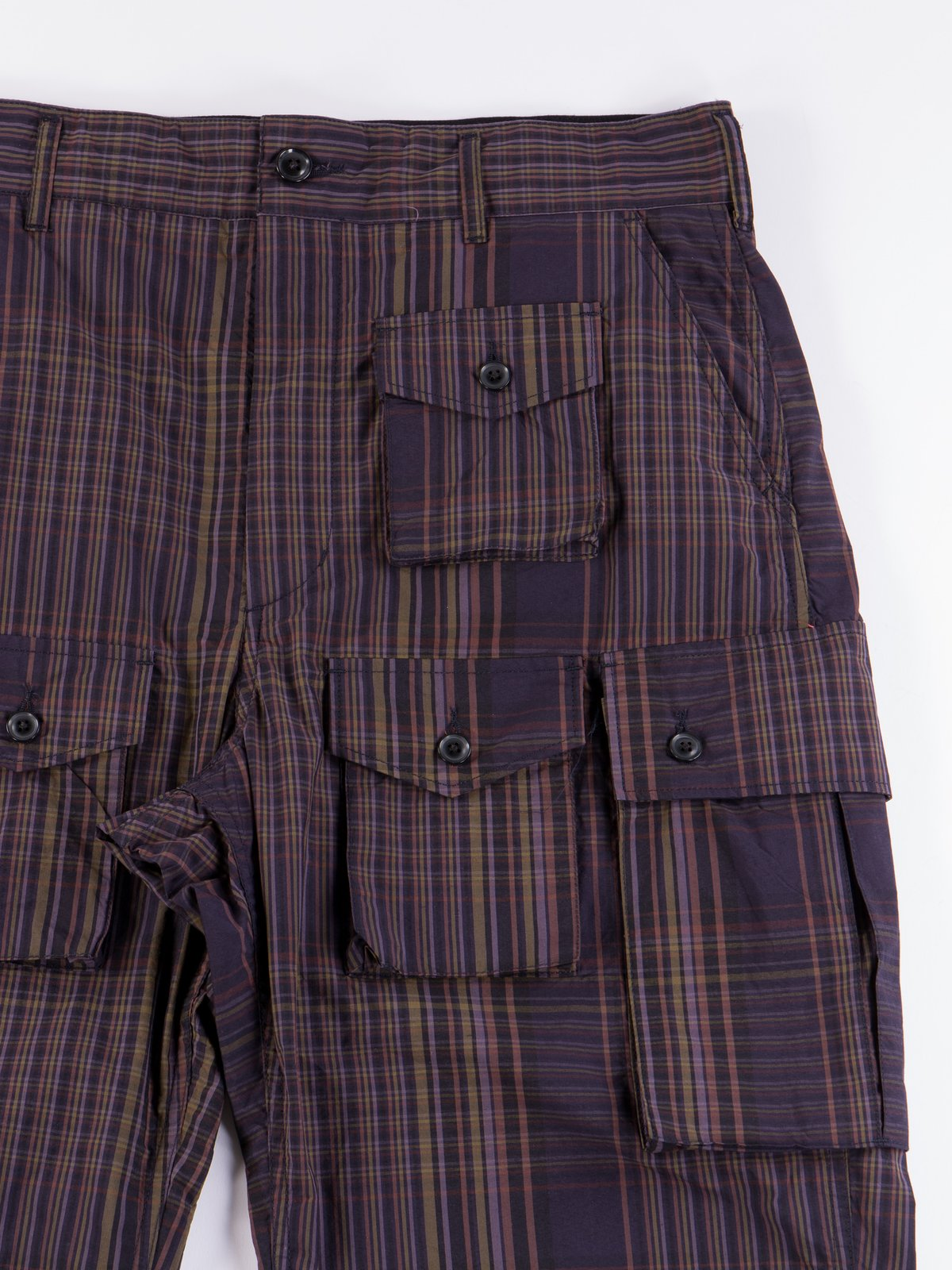 Multi Color Nyco Plaid FA Pant - Image 4