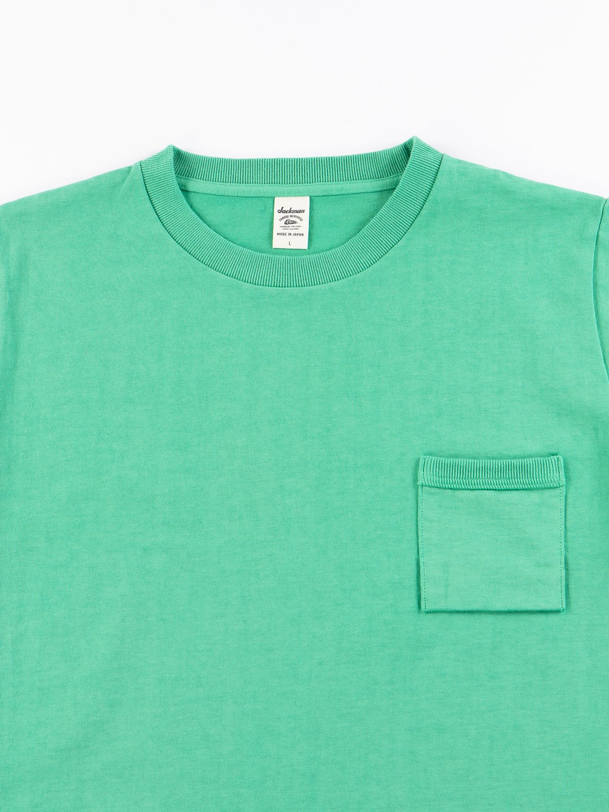 Kelly Green Dotsume Pocket T–Shirt - Image 3