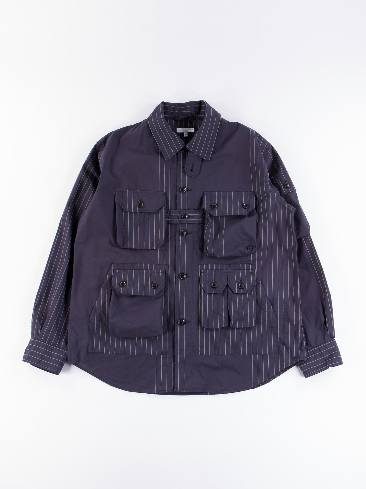 Dark Navy Nyco Gangster Stripe Explorer Shirt Jacket - Image 1