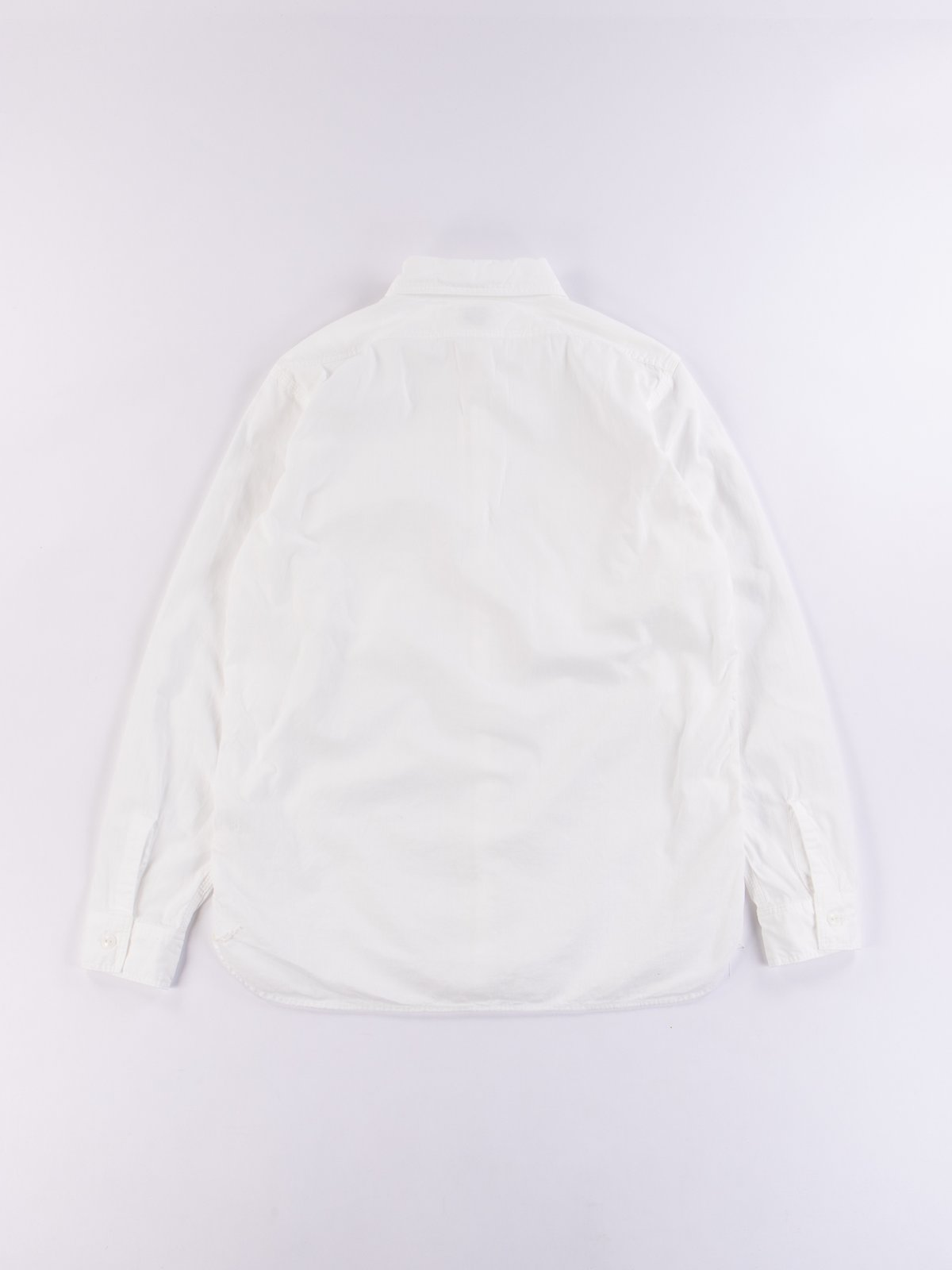 White Chambray Work Shirt - Image 4
