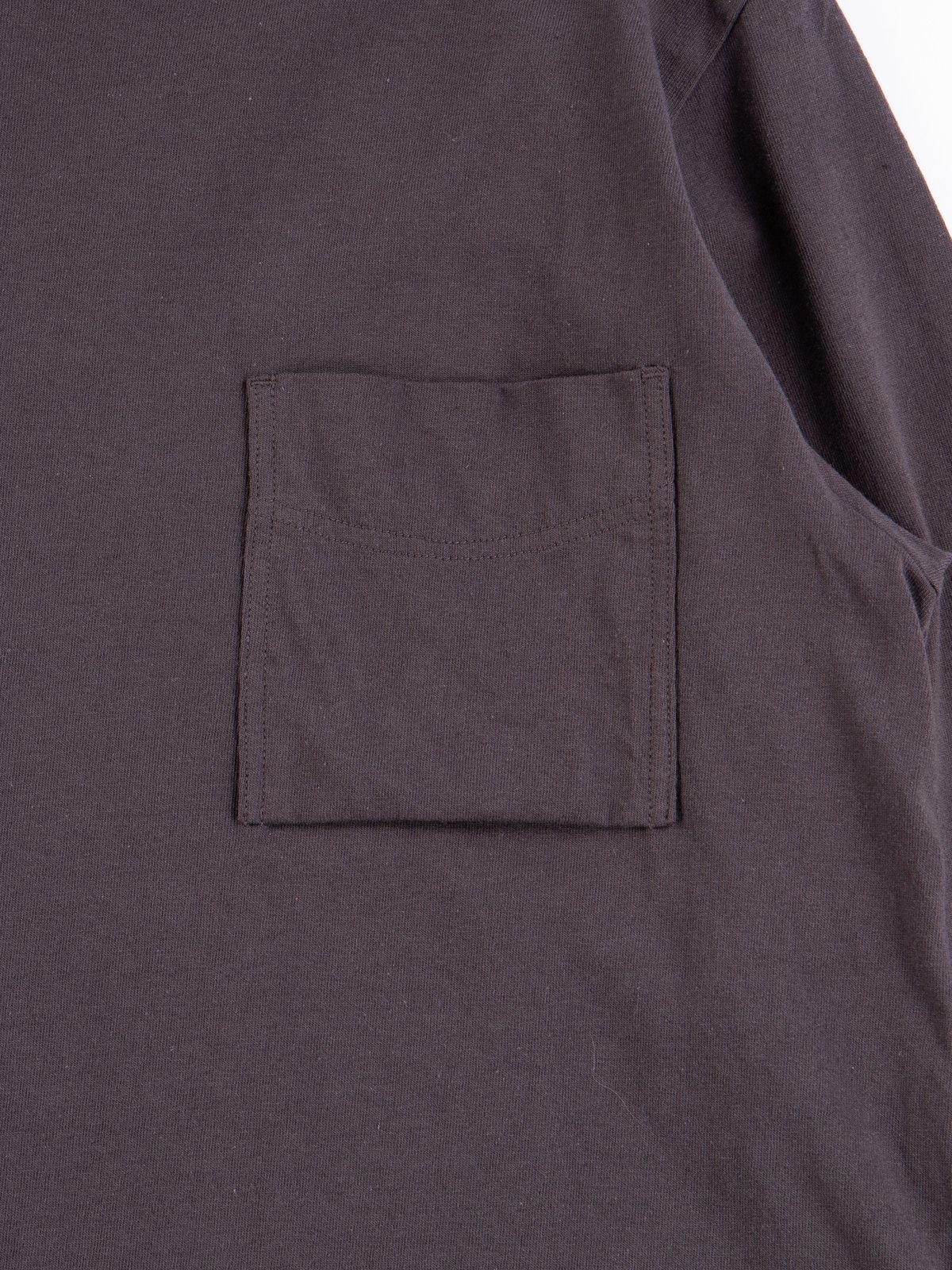 Off Black Long Sleeve Pocket T–Shirt - Image 4