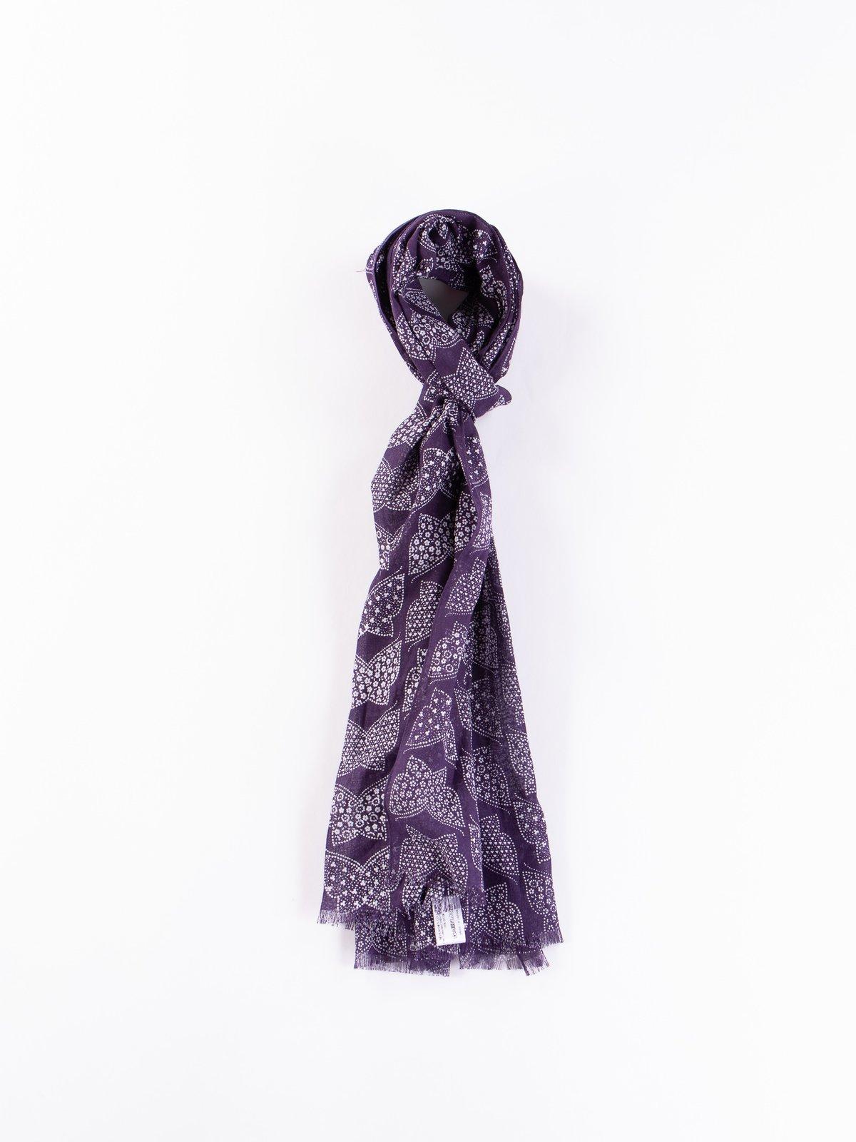 Purple Cotton Gauze Stole - Image 3