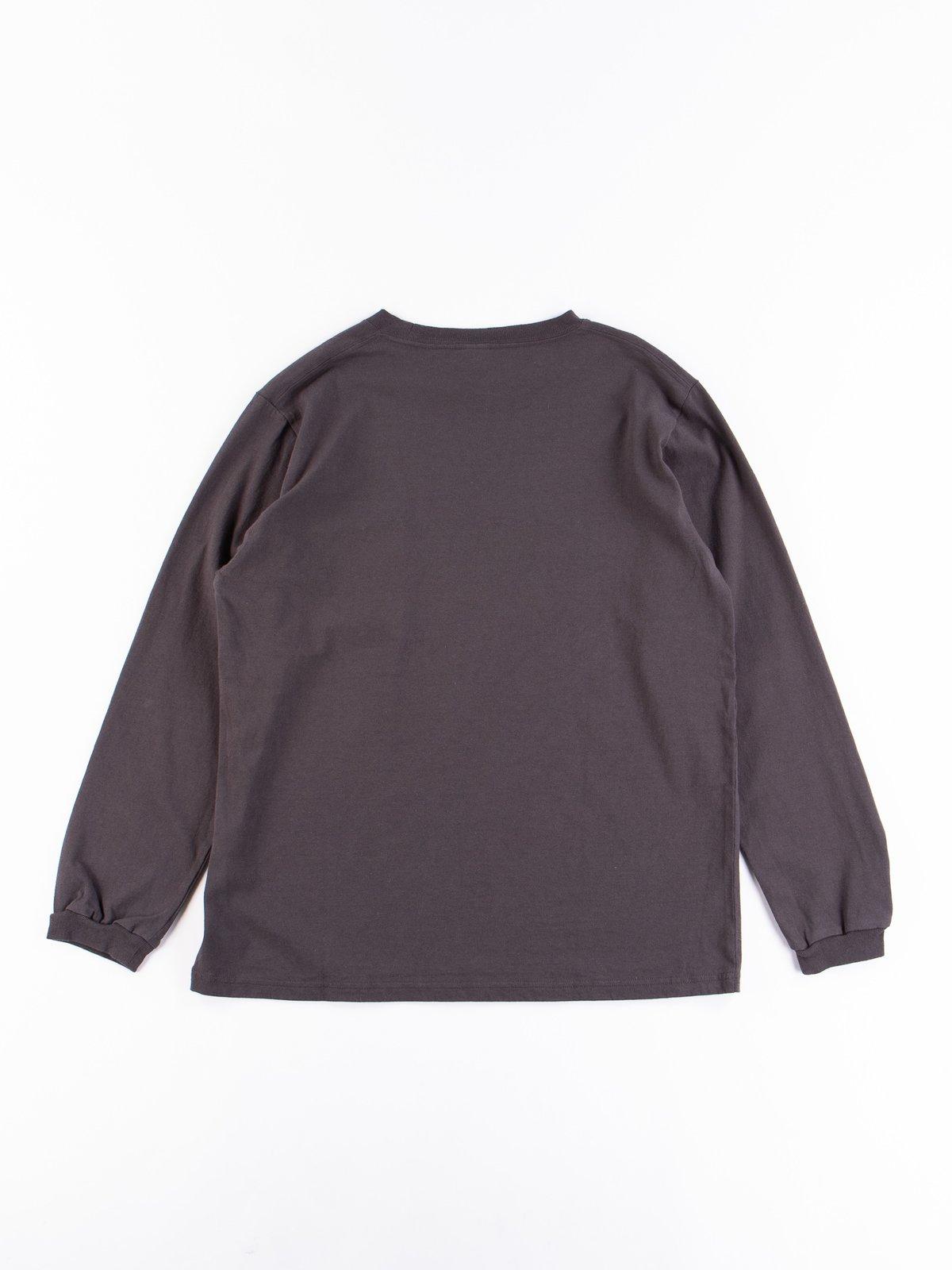 Off Black Long Sleeve Pocket T–Shirt - Image 6