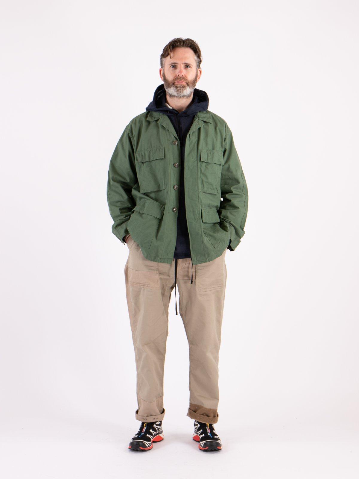 Olive Cotton Ripstop BDU Jacket - Image 2