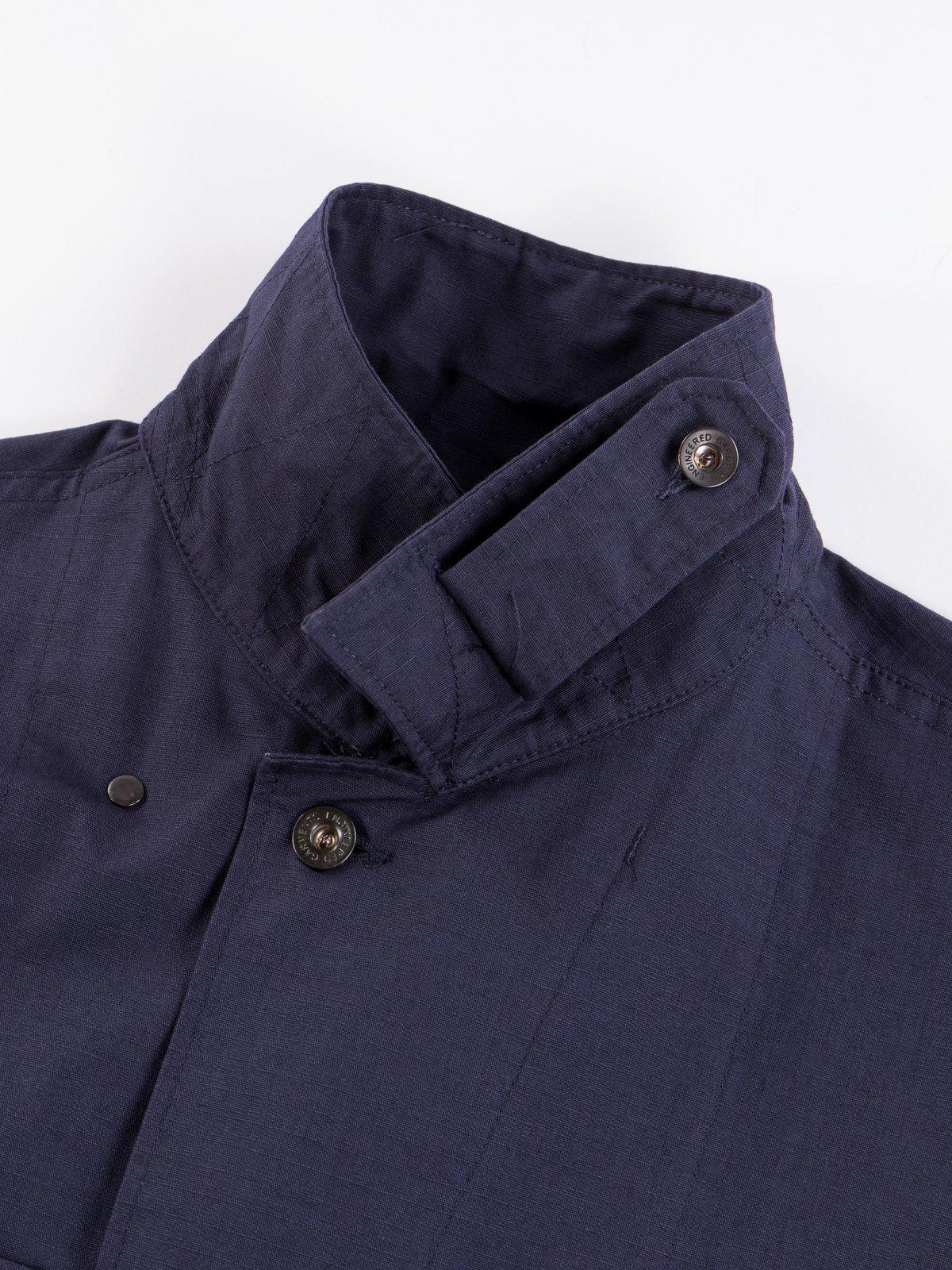 Dark Navy Cotton Ripstop M43/2 Shirt Jacket - Image 7