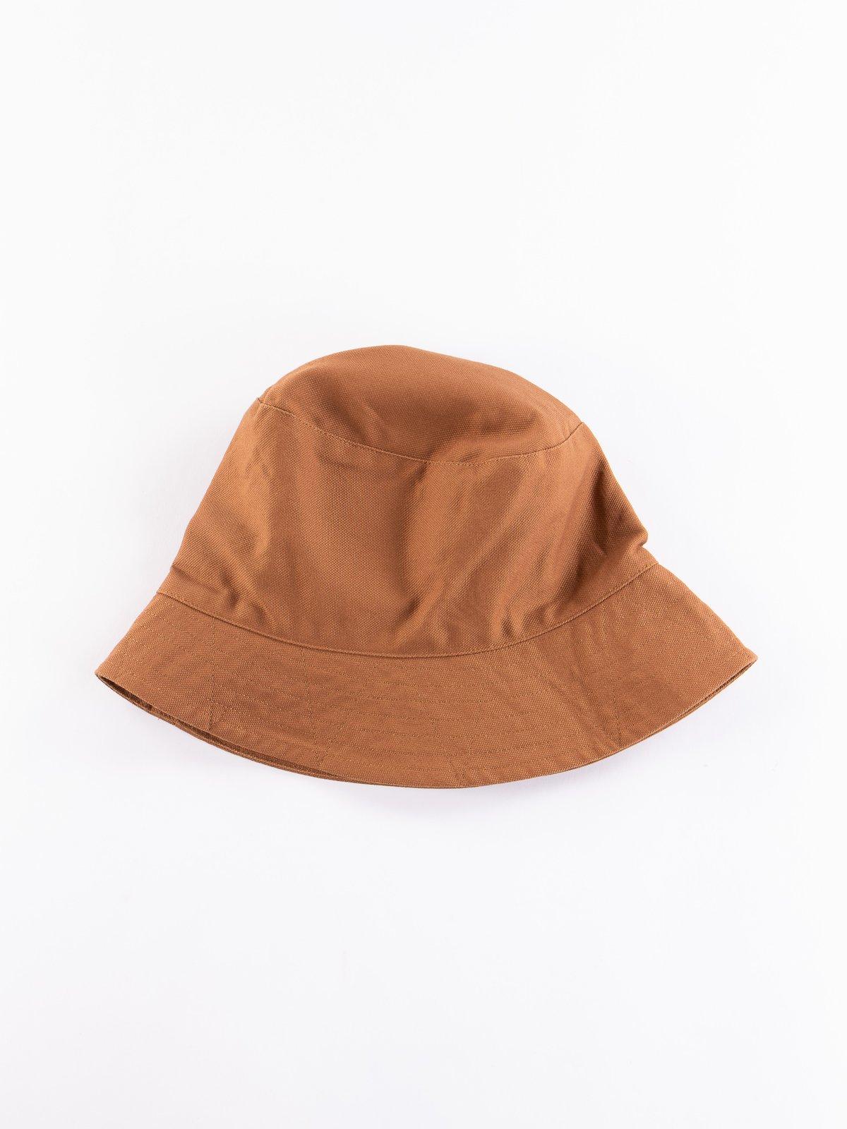 Brown 12oz Duck Canvas Bucket Hat - Image 1