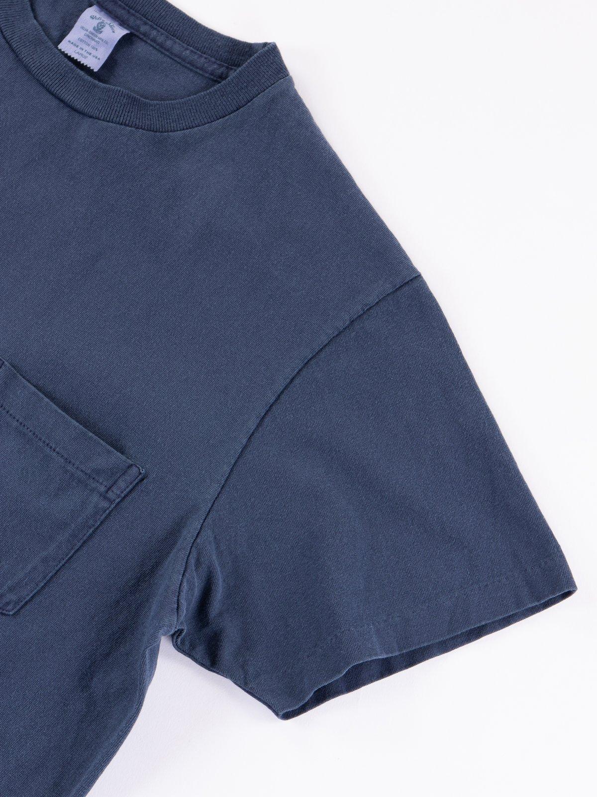 Navy Pigment Dye Pocket Tee - Image 4