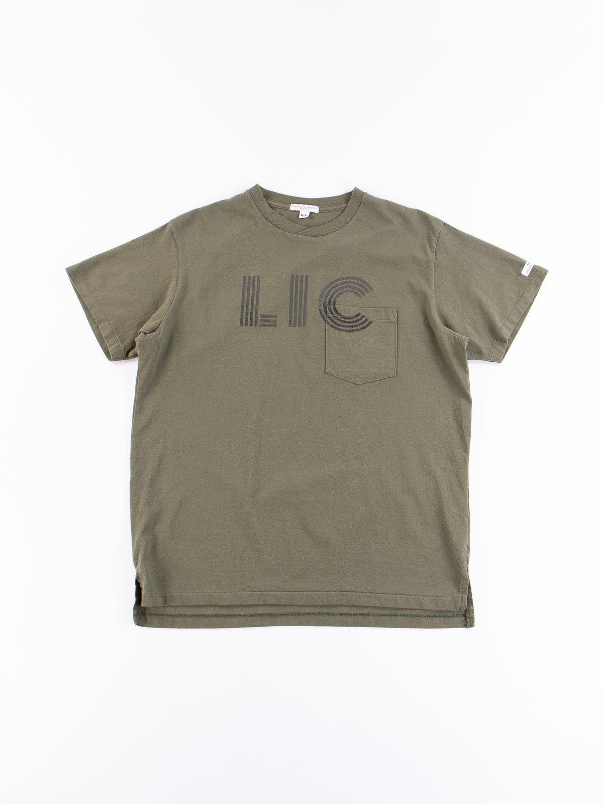Olive LIC Printed T–Shirt - Image 1